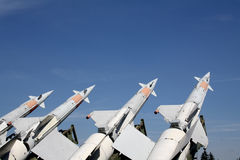 Four missiles are ready Royalty Free Stock Photo