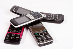 Four Mobile Phone. Royalty Free Stock Images