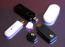 Four modem Usb 3G key Stock Images