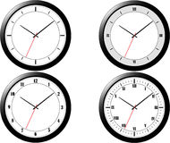 Four Modern Clocks Stock Photography