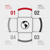 Four modern design options template. Four options of infographics for your design royalty free illustration