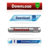 Four modern DOWNLOAD buttons Royalty Free Stock Images