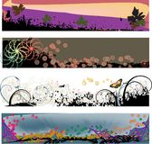 Four Modern Grunge Headers. Four colorful banner headers perfect for blogs with a grungy modern look - jpeg and  Vector Format Royalty Free Stock Image