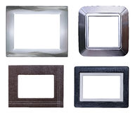 Four modern picture frames pack Royalty Free Stock Image