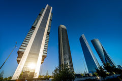 Four modern skyscrapers. (Cuatro Torres) Madrid, Spain Stock Photo