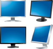 Four monitors. Set of vector icons Stock Photo