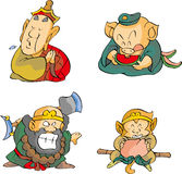 Four monks Royalty Free Stock Photography