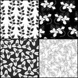 Four monochrome pattern Stock Photo