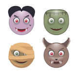 Four Monsters. Stock Image
