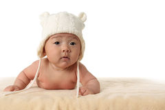 Four month old baby girl. royalty free stock images