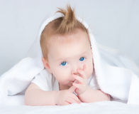 The four-monthly babe Royalty Free Stock Images