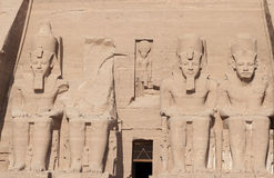 The four monumental colossi of Ramesses II at Abu Simbel Stock Images