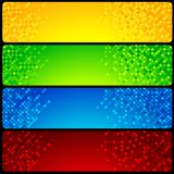 Four Mosaic Website Banners Stock Images