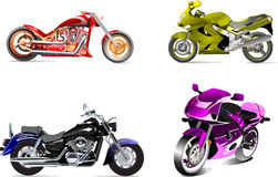 Four  motorcycles Stock Photography