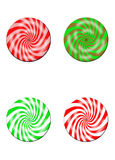 Four Mulitcolored Candy Disc Royalty Free Stock Photo