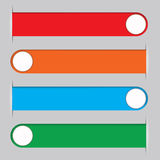 Four multi-colored ribbons for placing the text information Royalty Free Stock Photo