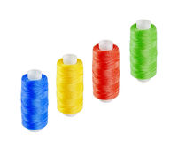 Four multi-colored skeins of thread Royalty Free Stock Photography