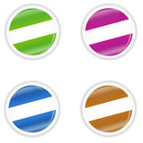 Four multi-colored stickers Royalty Free Stock Photo