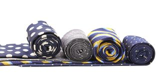 Four multi-colored tie Stock Image