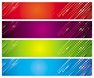 Four multi-coloured banners royalty free stock photos