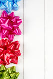Four multicolor gift bows Royalty Free Stock Photography