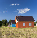 Four multicolored houses Royalty Free Stock Photo