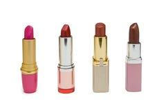Four Multicolored Lipstick Stock Image