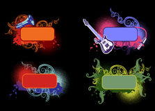 Four Music Color Banners Royalty Free Stock Image