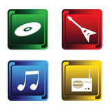 Four Musical Buttons Royalty Free Stock Photography