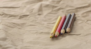 Four musketeers - four color pencils Royalty Free Stock Images