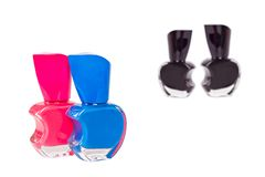 Four nail polish bottles Stock Images