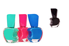 Four nail polish bottles Royalty Free Stock Photography
