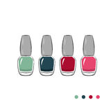 Four nail polish icons Stock Photo