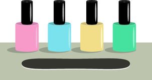 Four nail polish Stock Photo