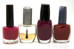 Four nail varnish Royalty Free Stock Photo