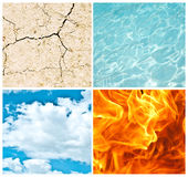 Four nature elements collage Royalty Free Stock Images