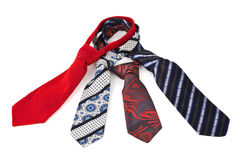 Four necktie Royalty Free Stock Photo