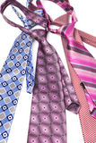Four necktie knotted Stock Photo