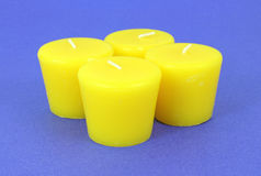 Four new citronella candles Stock Photo