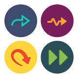 Four new simple arrows. This is a vector illustration of four new simple arrows vector illustration