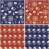 Four new year and christmas backgrounds. Illustration Stock Photos