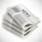 Four newspaper pile Stock Image