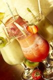 Four nonalcoholic freshening drink Stock Photo