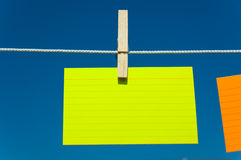 Four notes on a clothesline Stock Image