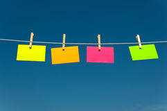 Four notes on a clothesline Royalty Free Stock Photography