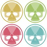 Four nuclear skulls Royalty Free Stock Photos
