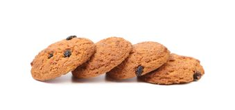 Four oatmeal cookies Royalty Free Stock Photography