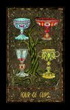 Four Of Cups. Minor Arcana Tarot Card Stock Image