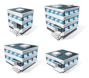 Four office buildings cartoon icons Stock Image
