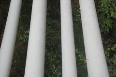 Four oil and gas pipelines. Oil and gas pipeline connection petrol wharf and oil and gas production factory stock photos